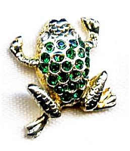 Frog rhinestone lapel pin (Image1)