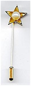 Star design faux pearl stick pin (Image1)