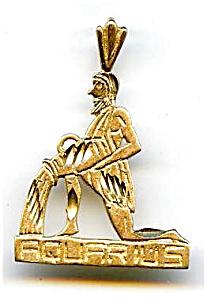 Aquarius 14K gold pendant charm (Image1)