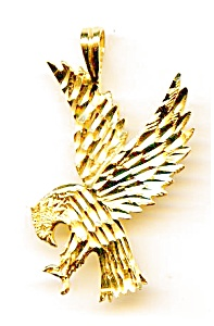 Eagle 14k Gold Pendant