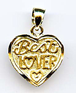 14k 'Best Lover' gold pendant (Image1)