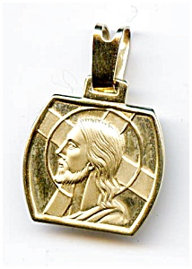Jesus With Cross 14k Gold Pendant