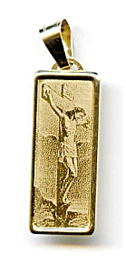 Jesus On The Cross 14k Gold Pendant