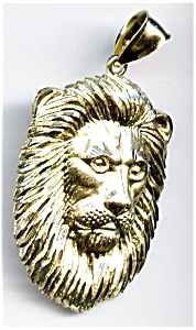 Lion Or Leo 14k Yellow Gold Pendant