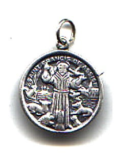 Saint Francis Of Assisi Sterling Silver Pendant