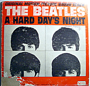 Beatles 'A Hard Day's Night' vintage vinyl lp 1964 (Image1)