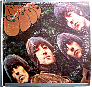 Beatles 'Rubber Soul' vintage vinyl lp record (Image1)