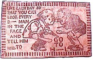 Antique Leather Postcard 1907 (Image1)