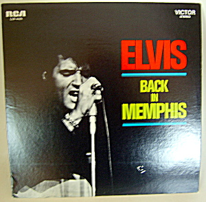'elvis - Back In Memphis' Vintage Stereo Lp Record