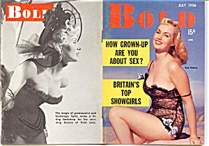 Vintage 'Bold' mini-magazine July 1956 (Image1)