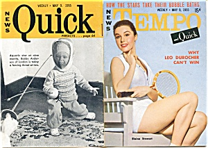 Vintage Tempo and Quick magazine 1955 Jane Russell (Image1)