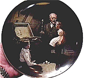 Rockwell Plate 'Grandpa's Treasure Chest' (Image1)
