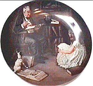 Norman Rockwell Plate, 'the Storyteller'