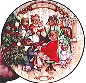 Avon 'Christmas Bears' collectible plate 1989 (Image1)