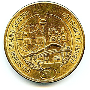 Vintage Seattle World's Fair 1962 Medallion