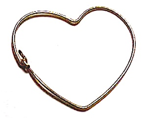Open Heart Gold Wire Pendant