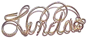 Linda Name Gold Wire Pendant (Image1)