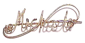 Michael Name Gold Wire Pin or Pendant (Image1)