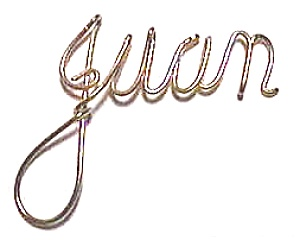 Juan Name Gold Wire Pendant (Image1)