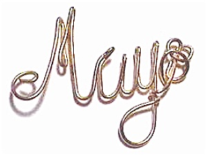 May Name Gold Wire Pendant (Image1)