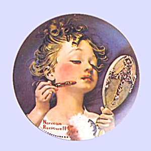 Norman Rockwell Plate 'making Believe In The Mirror'