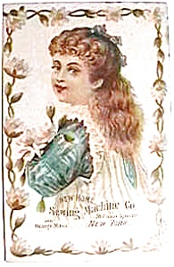 Vintage ad New Home sewing machine little girl (Image1)
