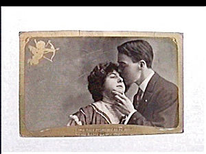Vintage real photo postcard - Promised to be Mine (Image1)