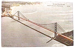 Antique photo post card - Golden Gate Bridge (Image1)
