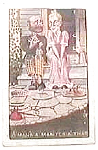 Antique vintage post card - Hobo and Woman (Image1)