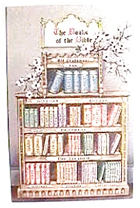 Books of the Bible vintage postcard (Image1)