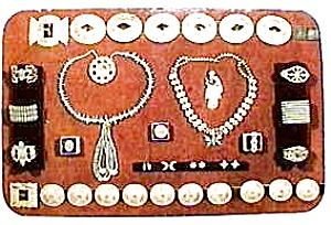 Vintage Native American jewelry postcard (Image1)