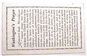 Washington's Prayer vintage post card (Image1)