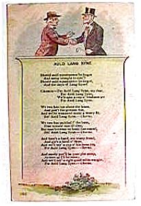 Auld Lang Syne vintage post card (Image1)