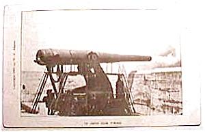 12 inch gun firing vintage postcard (Image1)