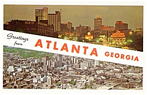 Five Atlanta, Georgia Mid 20th Century Postcards (Image1)