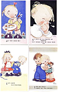 Postcard Set By Mabel Lucie Attwell 1900's
