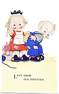 Postcard by Mabel Lucie Attwell 1900's (Image1)