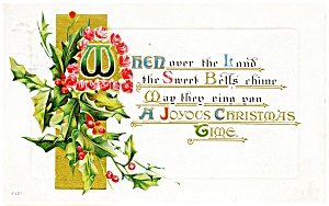 Vintage Christmas Postcard Early 1900s (Image1)