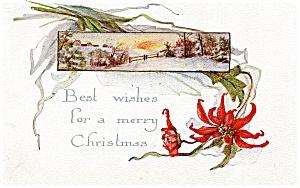 Vintage Christmas Post Card 1917 (Image1)
