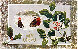 Vintage Christmas Post Card 1909 (Image1)