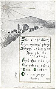 Vintage Christmas Post Card 1912 (Image1)