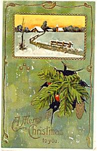 vintage Christmas Postcard  1910 (Image1)