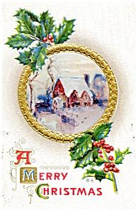 Vintage Christmas Postcard 1915 (Image1)