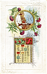 Christmas Postcard Winter Scene 1916 (Image1)