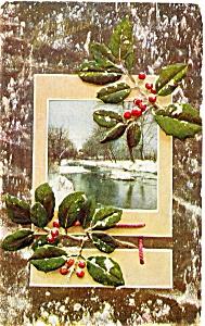 Christmas Postcard Winter Scene 1909 (Image1)
