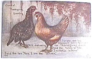 Antique vintage Thanksgiving postcard 1913 (Image1)