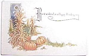 Antique vintage Thanksgiving postcard 1913-15 (Image1)