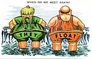 Postcard Humor Man Woman #171 (Image1)