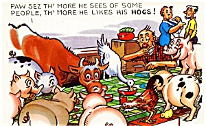Postcard Humor Hogs #184