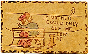 Antique Leather Post Card Mother (Image1)